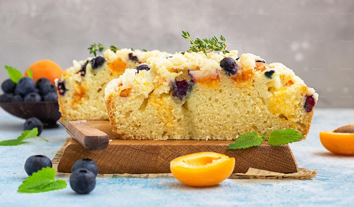 Slices Of Fruit Cake: Stock Photos