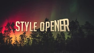 Style Opener: After Effects Templates