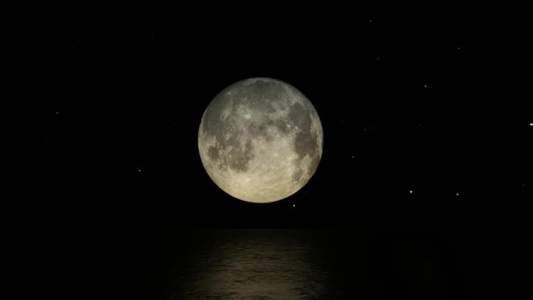 The Moon In The Dark Night: Motion Graphics