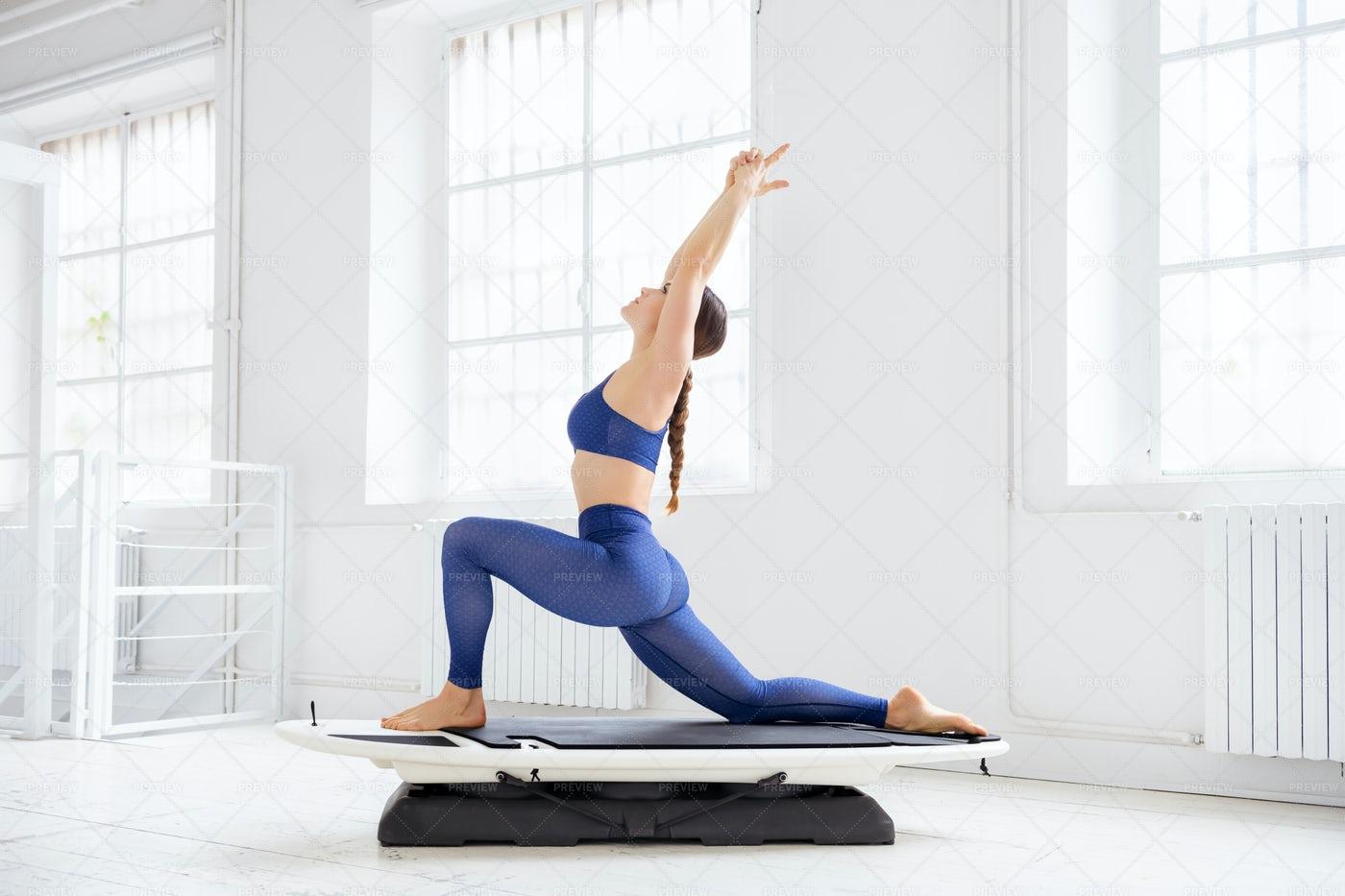 Surf Set Yoga Pose: Stock Photos