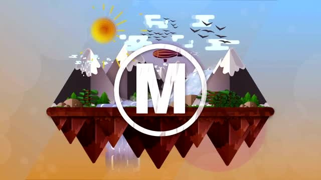 Animated Landscape Logo: After Effects Templates