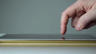 Tablet Hand Gestures With Side Profile: Stock Video