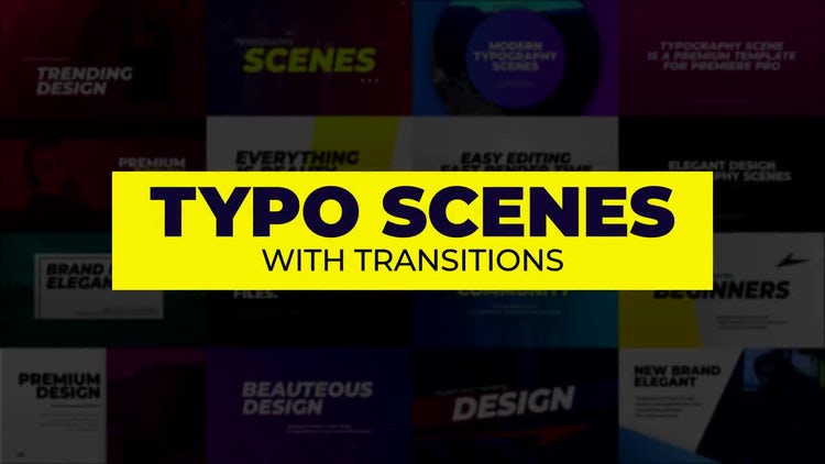 Typo Scenes With Transitions: Premiere Pro Templates