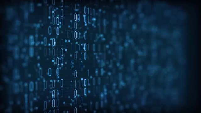 Binary Digital Data: Stock Motion Graphics