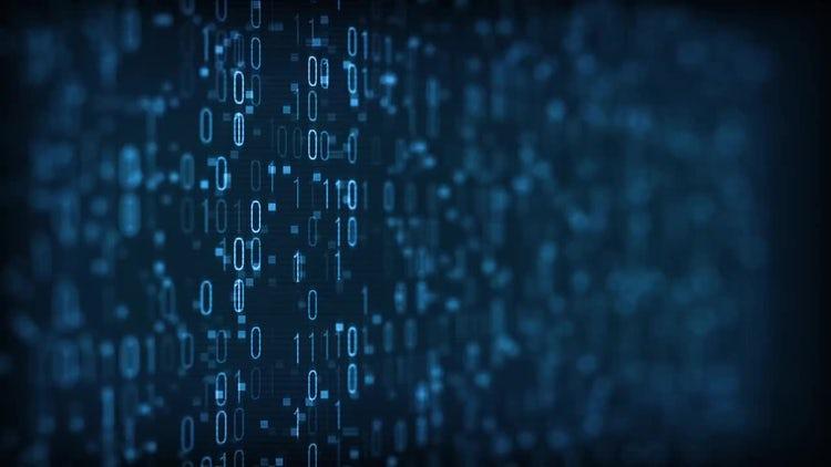 Binary Digital Data: Motion Graphics