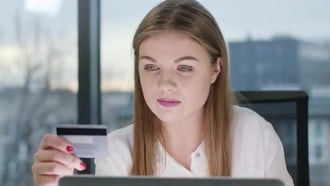 Young Lady Looking at the Laptop: Stock Video
