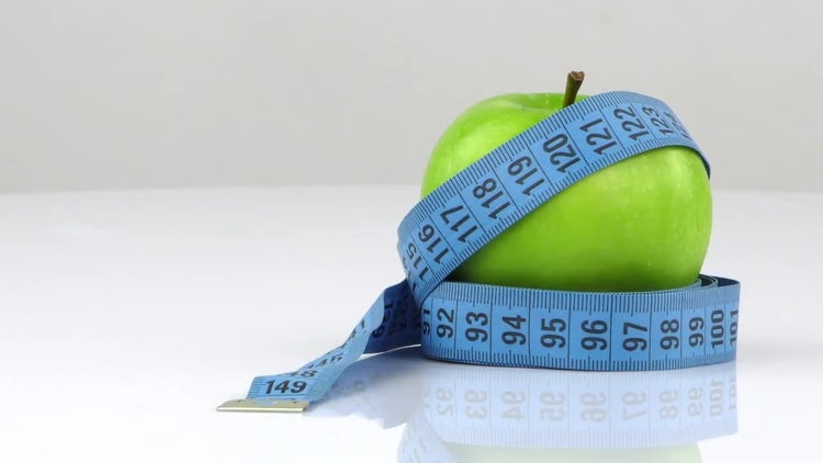 Fruit And Tape Measurement: Stock Video