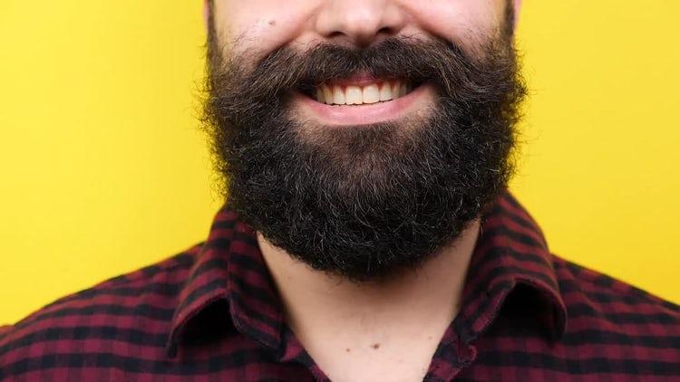 Bearded Man Smiling: Stock Video