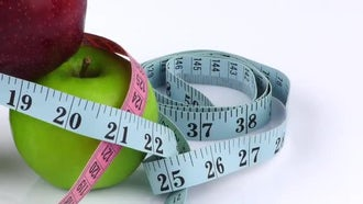 Fruit Apple And Measurement: Stock Video