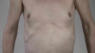 Mature Man's body: Stock Video