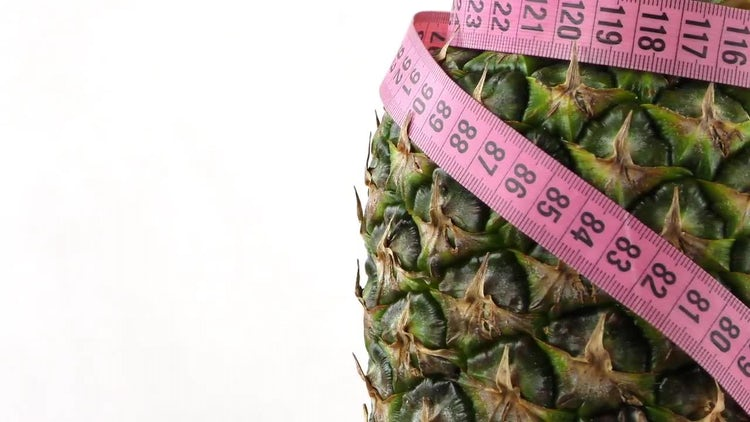 Pineapple and Measuring Tape Pack: Stock Video
