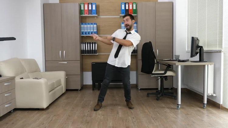 Businessman Dancing: Stock Video