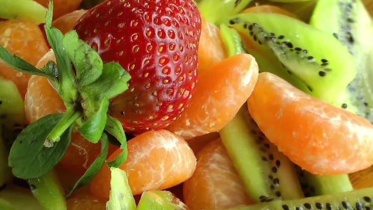 Healthy Fresh Mix Fruits Pack: Stock Video