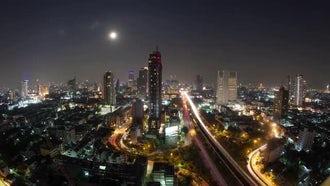 Time-lapse of Bangkok, Thailand: Stock Video