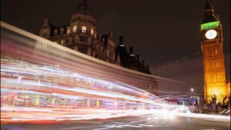 London, England Nighttime Time-lapse: Stock Video