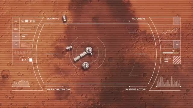 Mars Base From Orbit: Stock Motion Graphics