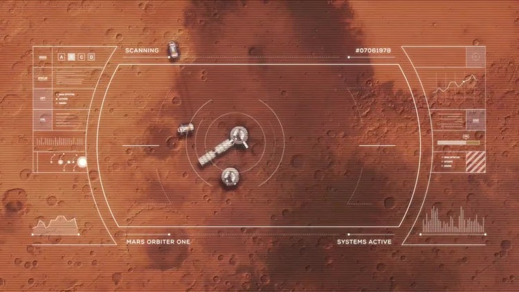 Mars Base From Orbit: Motion Graphics