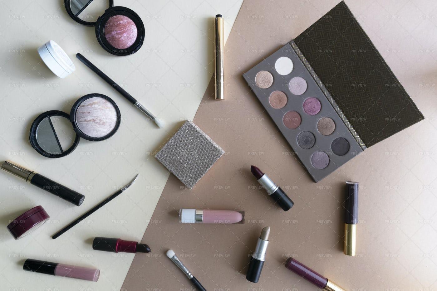 A Set Of Cosmetics: Stock Photos