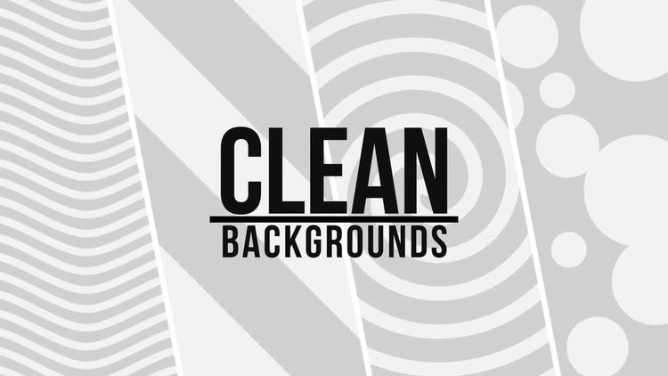 Clean Backgrounds: Stock Motion Graphics