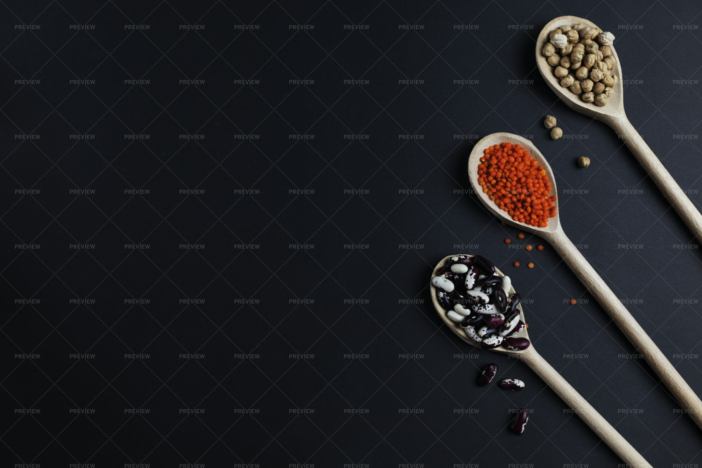 Lentils, Chickpeas And Beans: Stock Photos