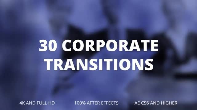 30 Corporate Transitions: After Effects Templates