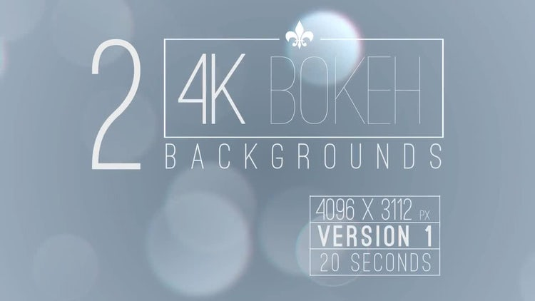 4k Bokeh Background: Motion Graphics