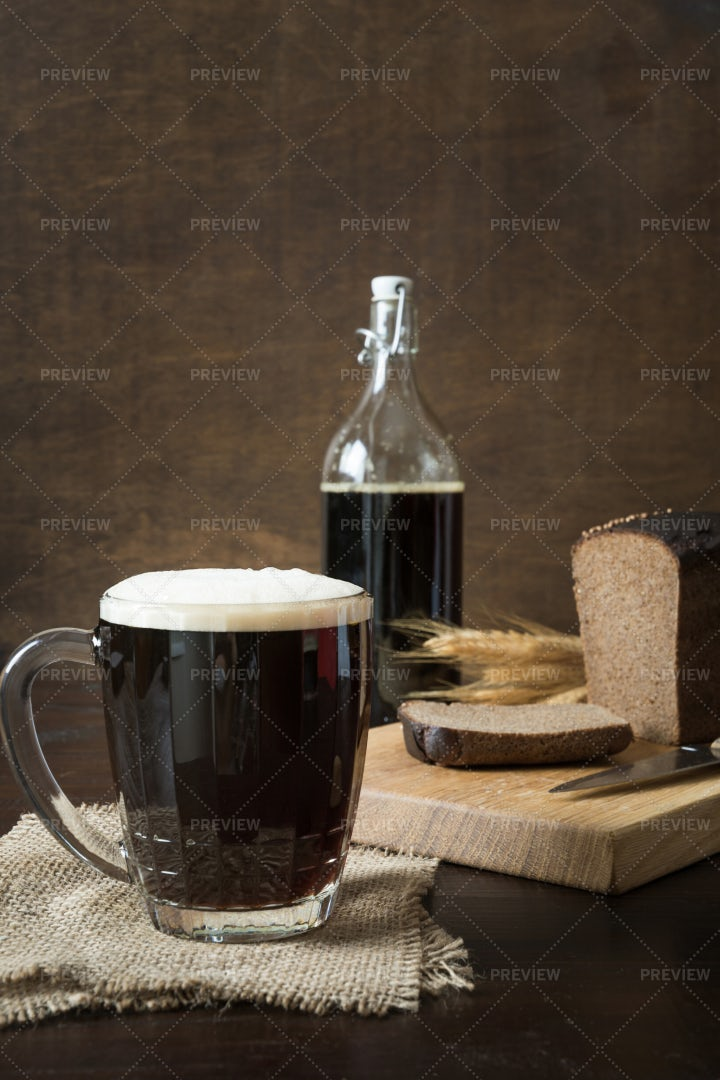 Traditional Fermented Kvass: Stock Photos