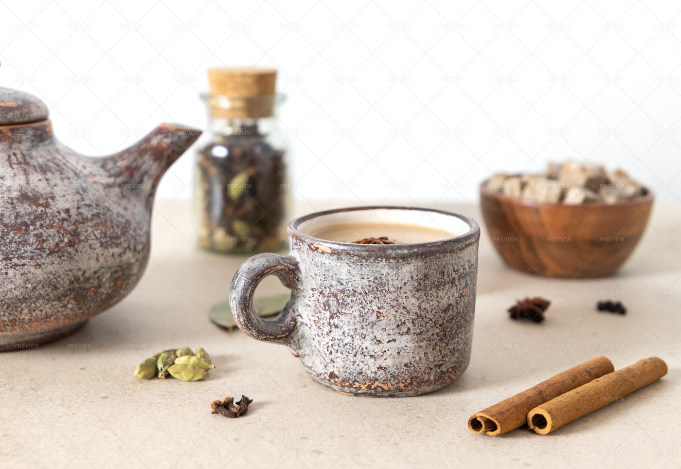 Ceramic Mug Of Tea: Stock Photos