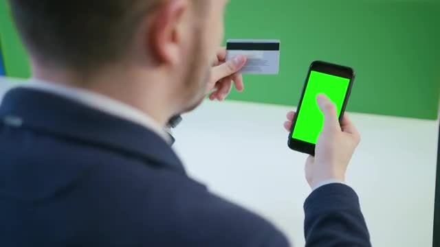 Paying Online With Phone: Stock Video