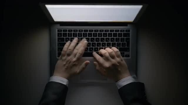 Man Working On A Laptop: Stock Video