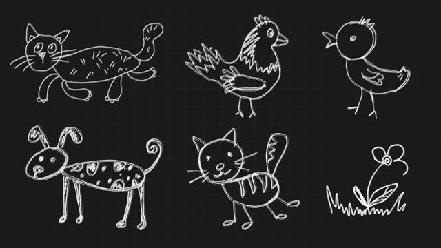 Children Drawings: Stock Motion Graphics