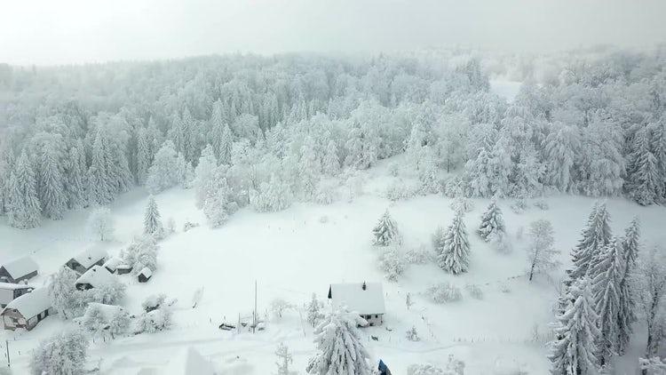 Aerial Mountain Village: Stock Video
