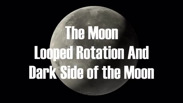 The Moon Rotation Loop: Stock Motion Graphics