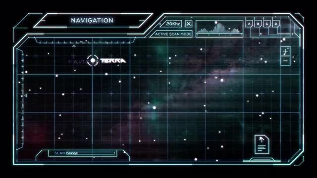 Star Chart with Sci-Fi User Interface: Stock Motion Graphics