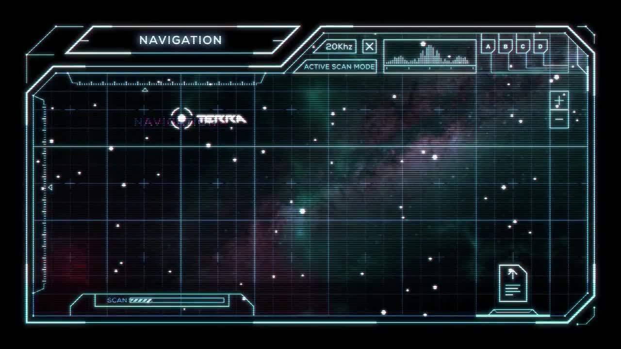 Star Chart with Sci Fi User Interface   Stock Motion Graphics