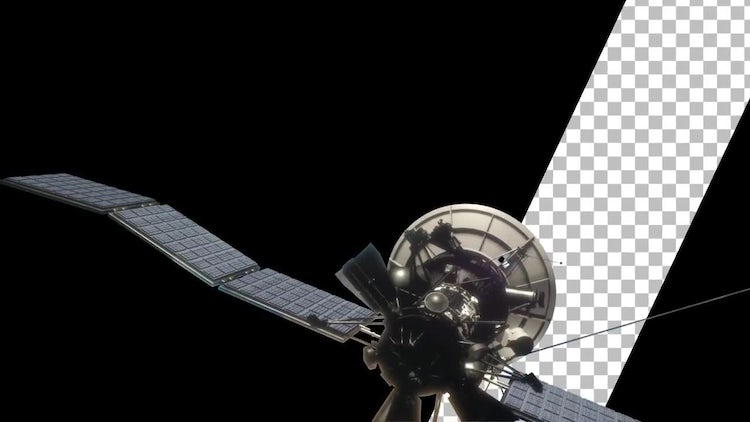Communications Satellite with Transparency: Stock Motion Graphics