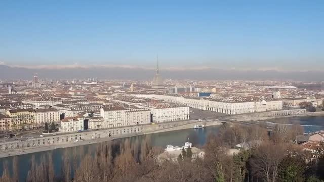 Aerial View Of The City Of Turin: Stock Video