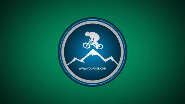 Mountain Bike Logo: After Effects Templates