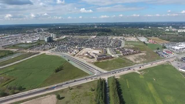Aerial View Of City With Apartments: Stock Video