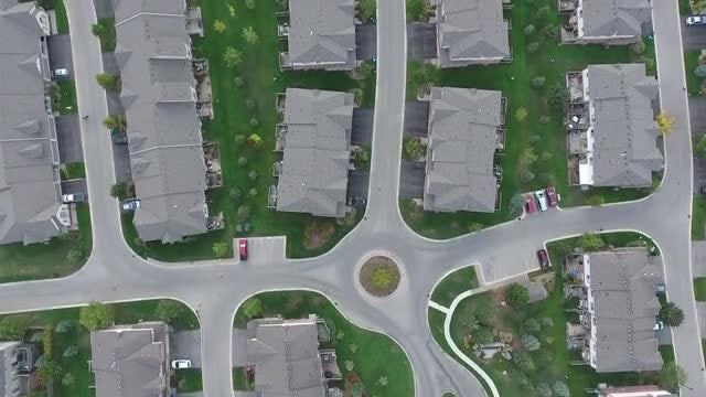 Aerial View Of Duplex Housing  : Stock Video