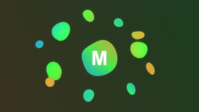 Colorful Blobs Logo Intro: After Effects Templates