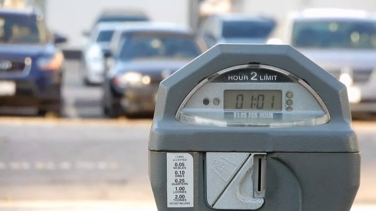 Activated Parking Meter : Stock Video