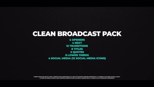 Clean Broadcast Pack: Premiere Pro Templates