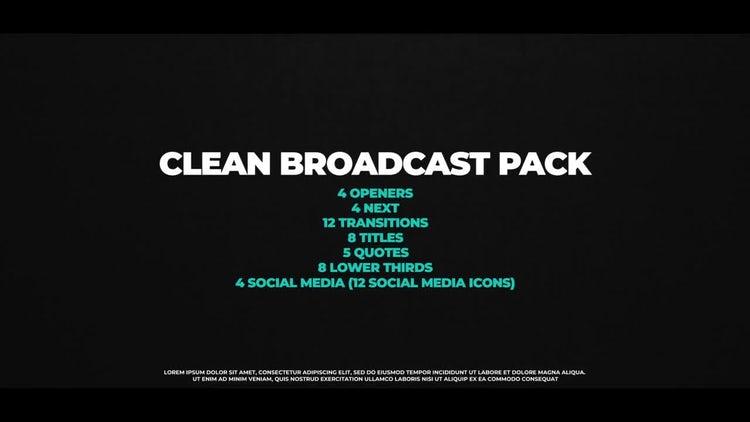 Clean Broadcast Pack: Premiere Pro Templates
