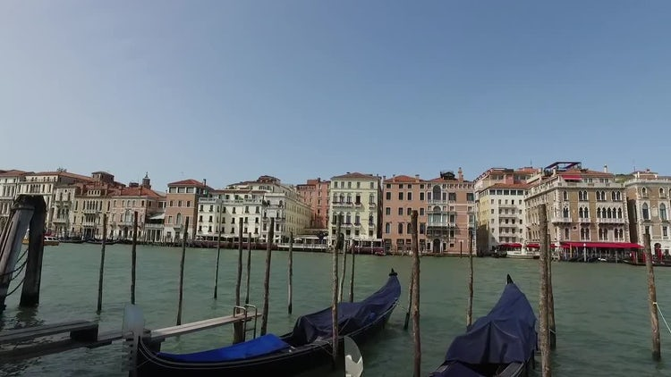 Venice Gondolas: Stock Video