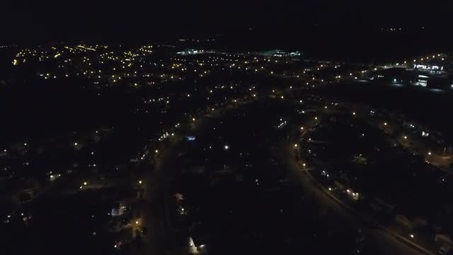Nighttime Aerial View Of City : Stock Video