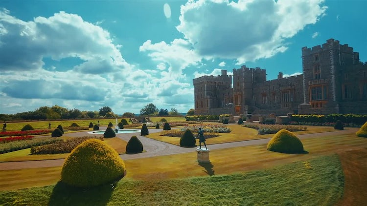 Windsor Castle Grounds: Stock Video