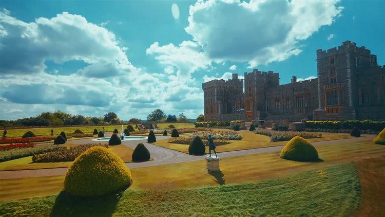 Windsor Castle Grounds: Stock Video