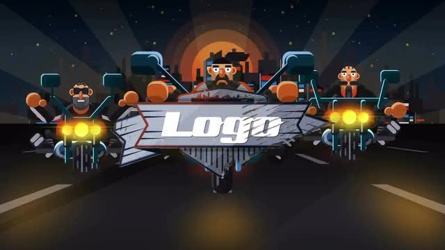 Cartoon Biker Logo: After Effects Templates