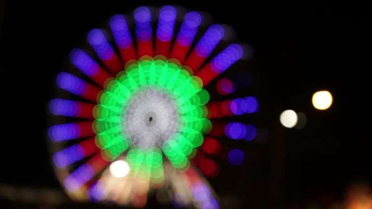 Park Attraction In Blur: Stock Video